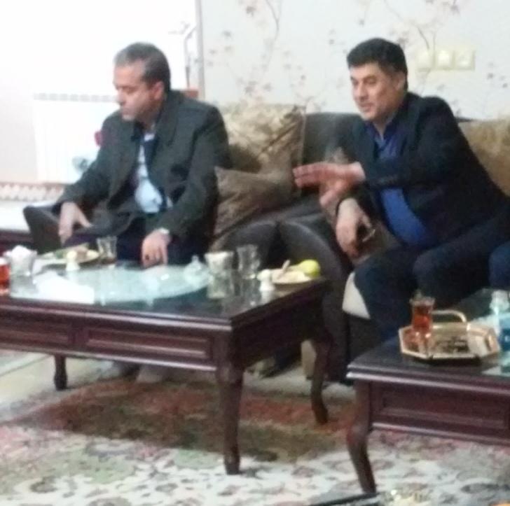 دیدار و گفتگوی صمیمانه شهردار و رییس شورای شهرستان ورامین با جانباز شمیایی