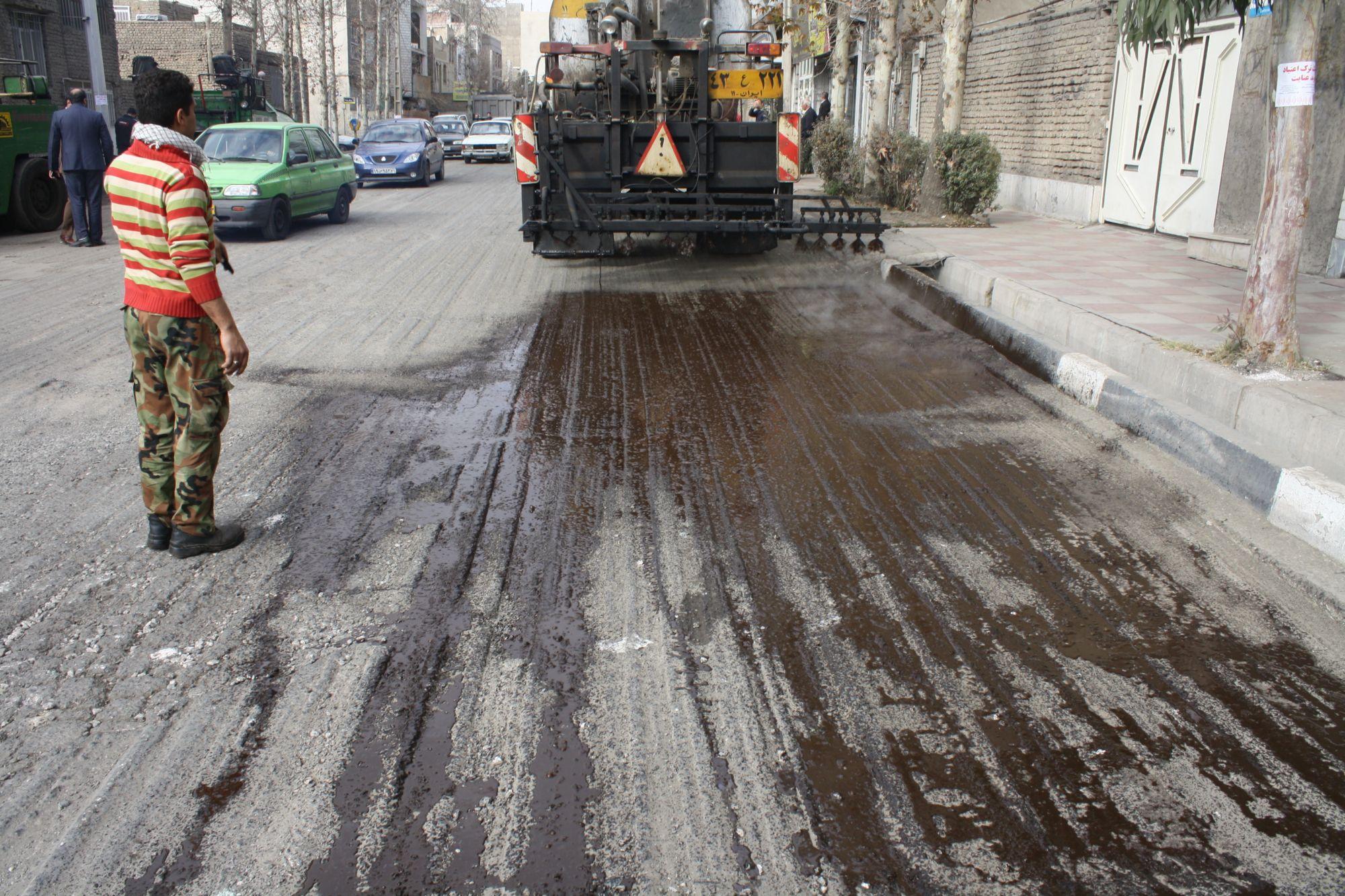 روکش آسفالت بزرگراه رسالت ورامین مرمت می شود+گزارش تصاویر