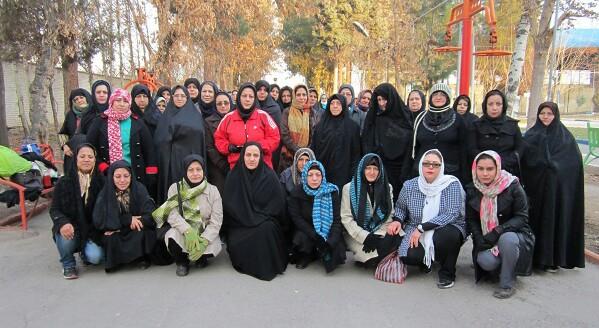 دو ۶۰ متر بانوان ورامین در پارک ۱۵ خرداد برگزار شد