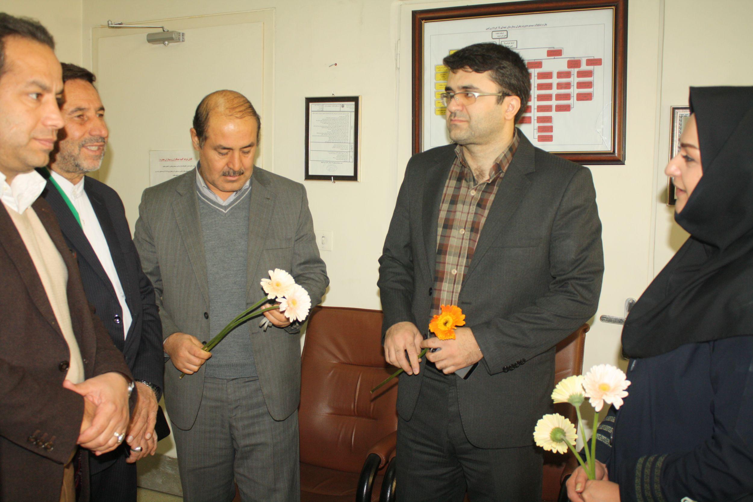 تجلیل و قدردانی از مقام پرستار توسط رییس شورای شهر ورامین و نایب رییس شورای شهرقرچک