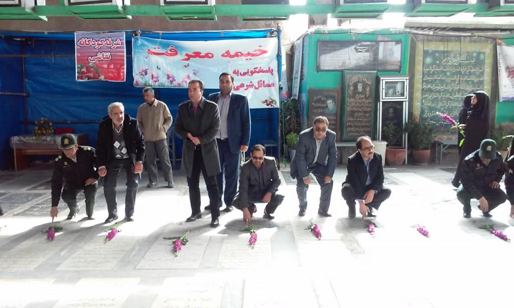 حضور شهردار ورامین در غبارروبی مزار شهدا