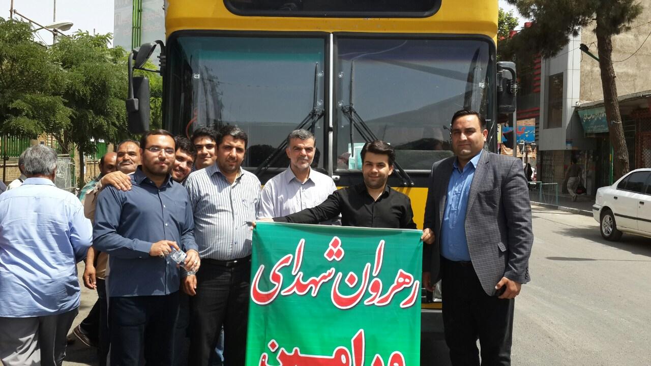 اعزام ۷ دستگاه اتوبوس برای مراسم تشییع شهدای غواص توسط سازمان اتوبوسرانی شهرداری ورامین