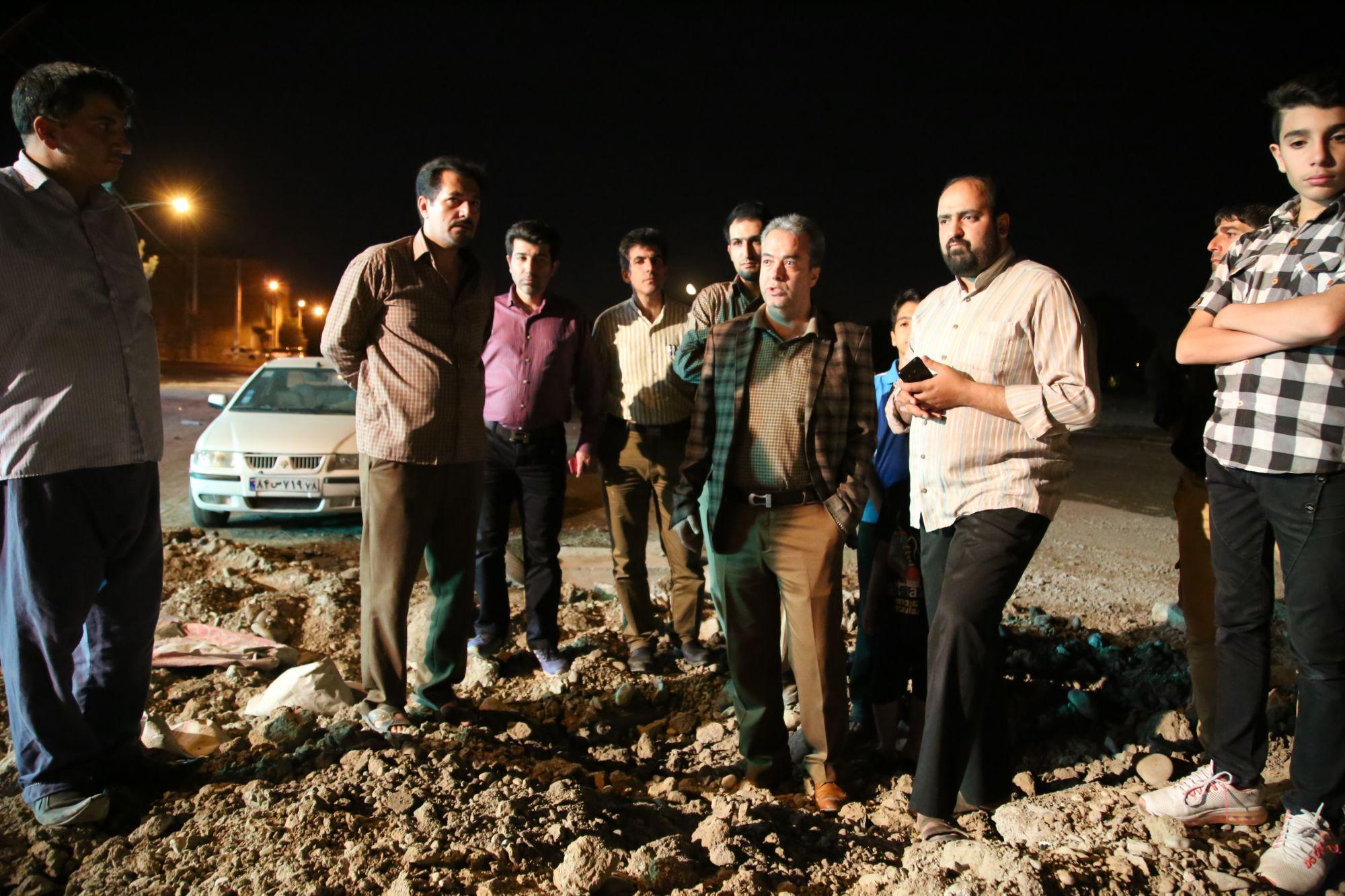 بازدید سرزده شهردار از پروژه های عمرانی در اولین ساعات بامداد روز پنج شنبه